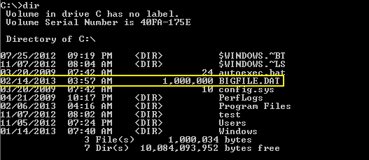 cmd-commands-large-size-dir
