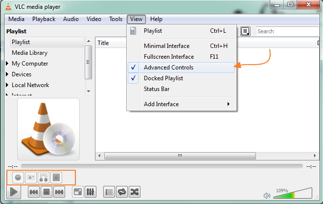 how to stop the direct 3d output in vlc